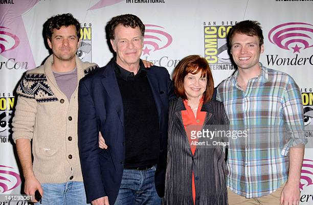 Actor Joshua Jackson actor John Noble actress Blair Brown and actor Seth Gable participate in 2012 WonderCon Day 3 held at Anaheim Convention Center...