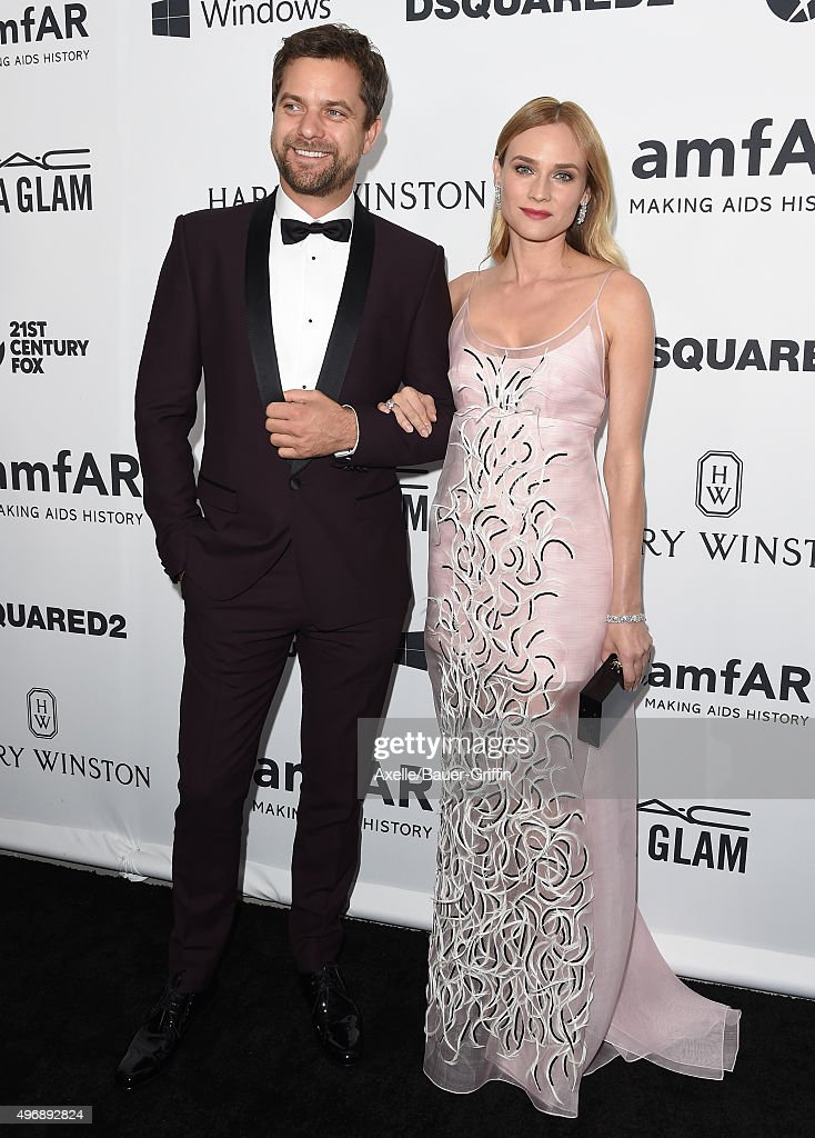 Actor Joshua Jackson and actress Diane Kruger arrive at amfAR's Inspiration Gala Los Angeles at Milk Studios on October 29 2015 in Hollywood...