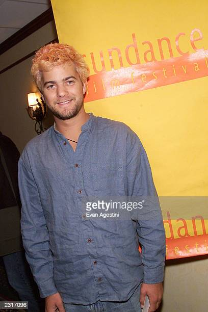 Actor Joshua Jackson arriving at the 2002 Sundance Film Festival opening night screening of HBO's 'The Laramie Project' at Abravanel Hall in Salt...