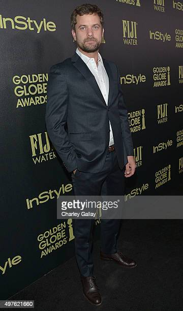 Actor Joshua Jackson attends Hollywood Foreign Press Association and InStyle celebrate the 2016 Golden Globes Awards season at Ysabel on November 17...