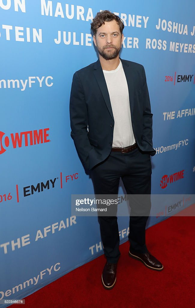 Actor Joshua Jackson attends Showtime THE AFFAIR ATAS FYC Panel on April 18, 2016 in New York City.