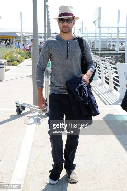 Actor Joshua Jackson is seen leaving the Venice Airport during The 70th Venice International Film Festival on September 5 2013 in Venice Italy