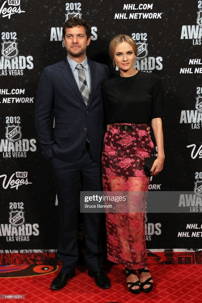 Actor <a gi-track='captionPersonalityLinkClicked' href=/galleries/search?phrase=Joshua+Jackson+-+Actor&family=editorial&specificpeople=208160 ng-click='$event.stopPropagation()'>Joshua Jackson</a> poses with his girlfriend <a gi-track='captionPersonalityLinkClicked' href=/galleries/search?phrase=Diane+Kruger&family=editorial&specificpeople=202640 ng-click='$event.stopPropagation()'>Diane Kruger</a> arrives before the 2012 NHL Awards at the Encore Theater at the Wynn Las Vegas on June 20, 2012 in Las Vegas, Nevada.