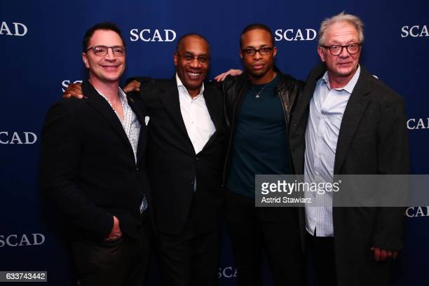 Actor Joshua Malina Actor Joe Morton Actor Cornelius Smith Jr and Actor Jeff Perry attend the QA for 'Scandal' during Day Two of the aTVfest 2017...