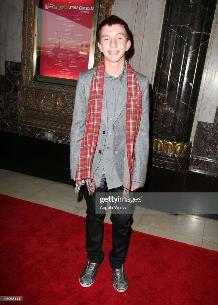 Actor Joshua Moore attends the Los Angeles premiere of Dr. Seuss' 'How The Grinch Stole Christmas' at the Pantages Theatre on November 14, 2009 in Los Angeles, California.