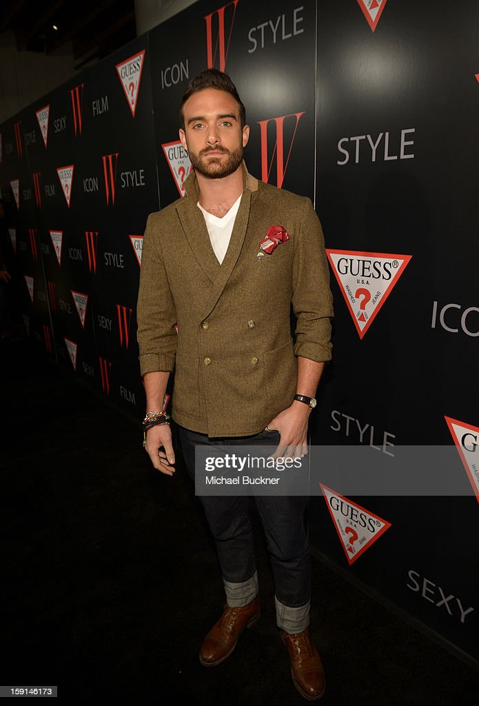 Actor Joshua Sasse attends '30 Years Of Fashion And Film And The Next Generation Of Style Icons' with W Magazine and GUESS at Laurel Hardware on January 8, 2013 in West Hollywood, California.