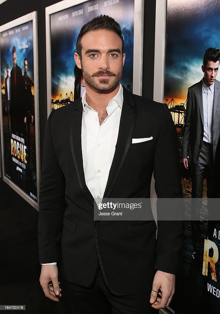 Actor Joshua Sasse attends the Los Angeles Premiere of Rogue at ArcLight Cinemas on March 26, 2013 in Hollywood, California.