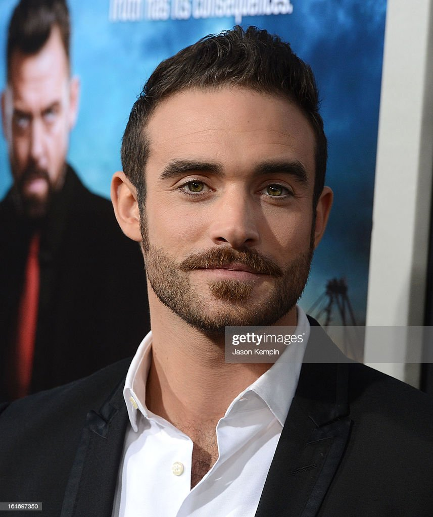 Actor Joshua Sasse attends the premiere of 'Rogue' at ArcLight Cinemas on March 26, 2013 in Hollywood, California.