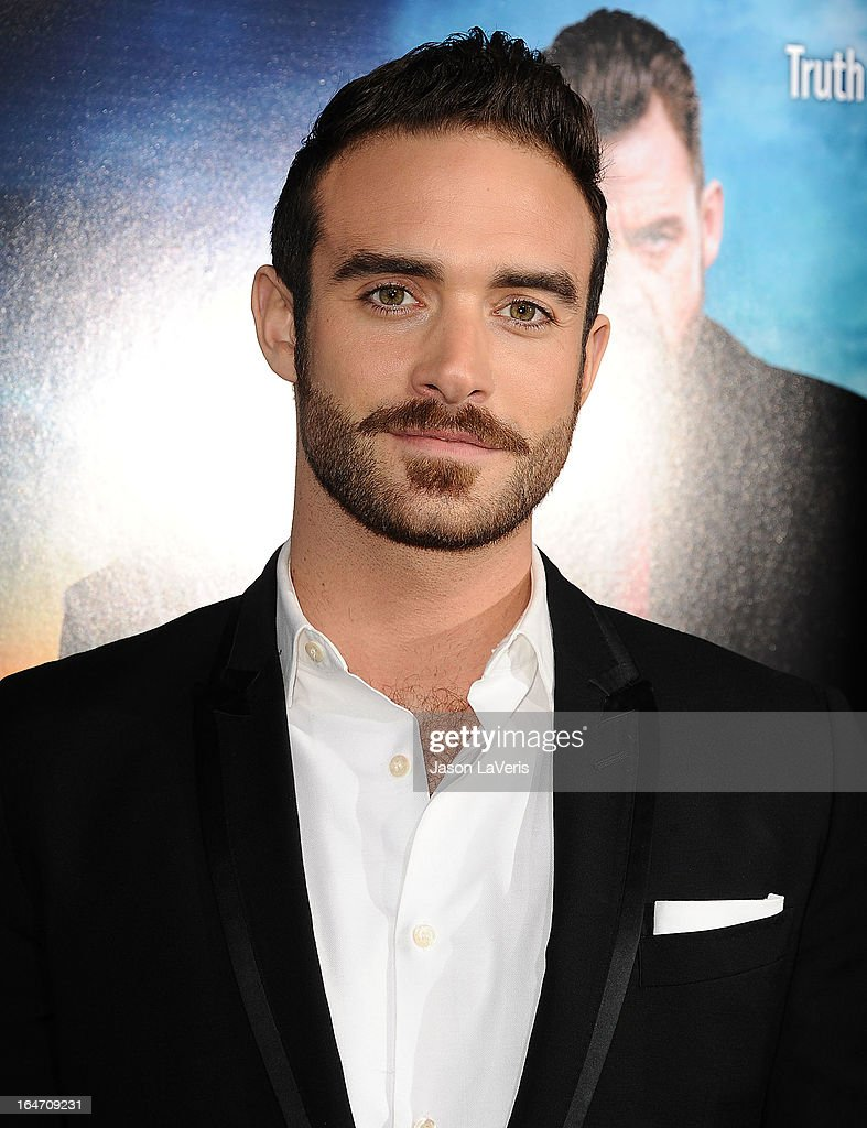Actor Joshua Sasse attends the premiere of 'Rogue' at ArcLight Hollywood on March 26, 2013 in Hollywood, California.