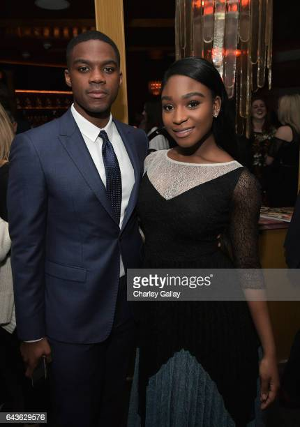 Actor Jovan Adepo and singer Normani Kordei of Fifth Harmony attend Vanity Fair and L'Oreal Paris Toast to Young Hollywood hosted by Dakota Johnson...
