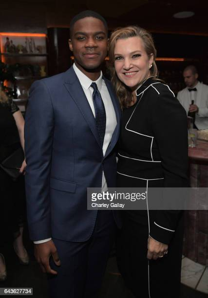 Actor Jovan Adepo and Vanity Fair West Coast Editor Krista Smith attend Vanity Fair and L'Oreal Paris Toast to Young Hollywood hosted by Dakota...