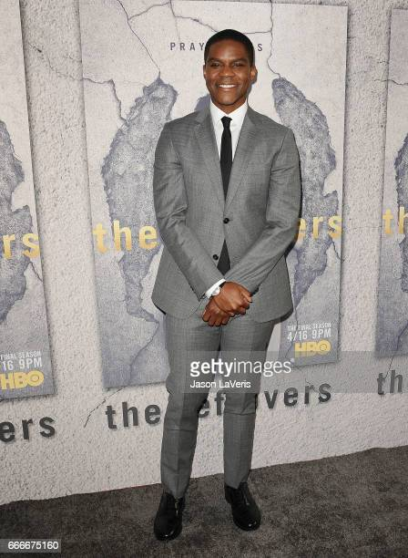 Actor Jovan Adepo attends the season 3 premiere of 'The Leftovers' at Avalon Hollywood on April 4 2017 in Los Angeles California