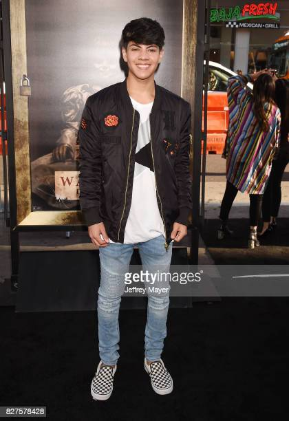 Actor Jovani Jara attends the premiere of New Line Cinema's 'Annabelle Creation' at TCL Chinese Theatre IMAX on August 07 2017 in Los Angeles...