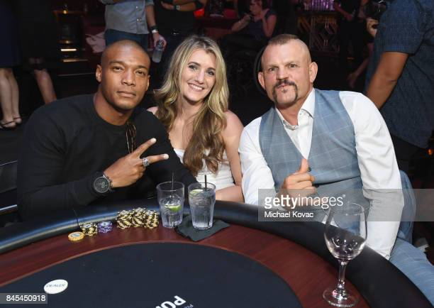 Actor Juan Antonio former UFC fighter Chuck Liddell and guest at the Heroes for Heroes Los Angeles Police Memorial Foundation Celebrity Poker...