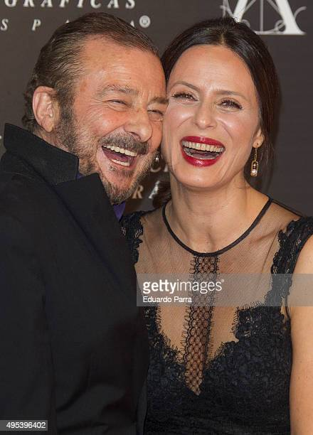 Actor Juan Diego and Aitana Sanchez Gijon attend the Golden Medal 2015 ceremony at Academia de Cine on November 2 2015 in Madrid Spain