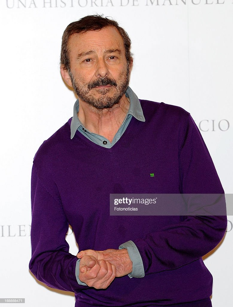 Actor Juan Diego attends a photocall for 'Todo Es Silencio' at the Palafox cinema on November 5, 2012 in Madrid, Spain.