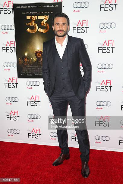 Actor Juan Pablo Raba attends the Centerpiece Gala premiere of Alcon Entertainment's 'The 33' at TCL Chinese Theatre on November 9 2015 in Hollywood...