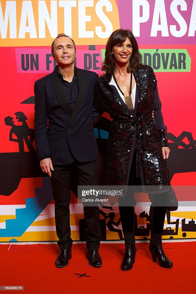Actor Juan Ribo and actress Pastora Vega attend 'Los Amantes Pasajeros' premiere party at Casino de Madrid on March 7, 2013 in Madrid, Spain.