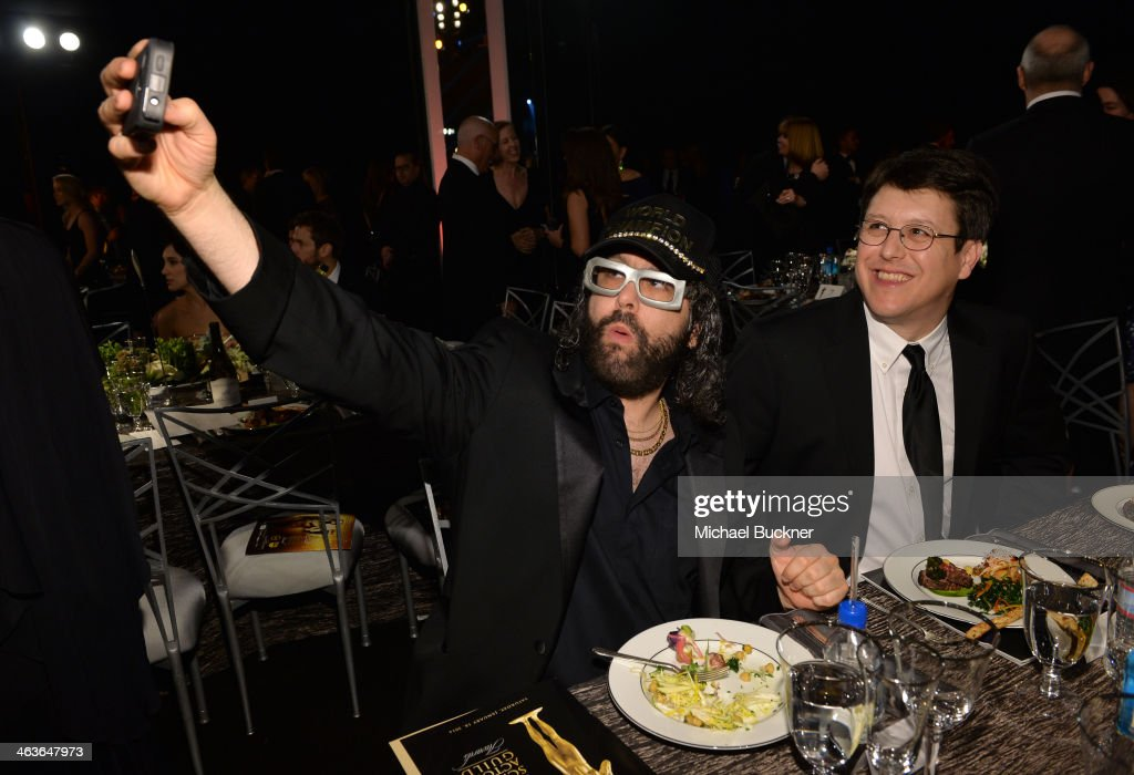 Actor Judah Friedlander and guest attend the 20th Annual Screen Actors Guild Awards at The Shrine Auditorium on January 18 2014 in Los Angeles...