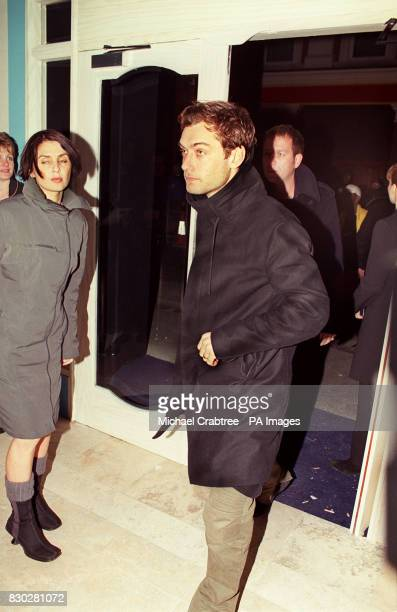 Actor Jude Law and his actress wife Sadie Frost at the opening party for the Sugar Reef Bar and Grill in Soho London * 15/8/01 Actor Ewan McGregor...