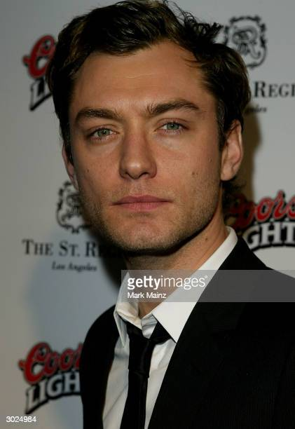 Actor Jude Law arrives at Miramax's Annual Max Awards held at the Regis Hotel on February 28 2004 in Beverly Hills California
