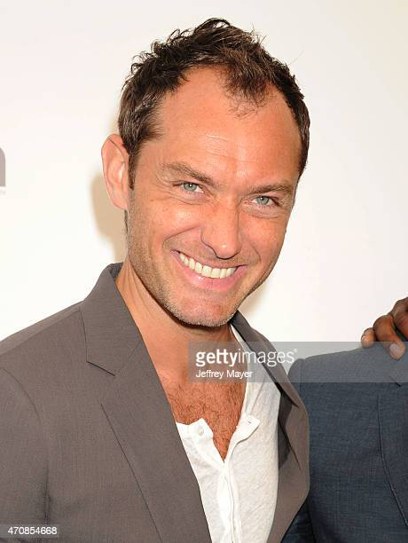 Actor Jude Law arrives at the 2015 CinemaCon Twentieth Century Fox Presentation at Caesar's Palace Resort and Casino on April 23 2015 in Las Vegas...