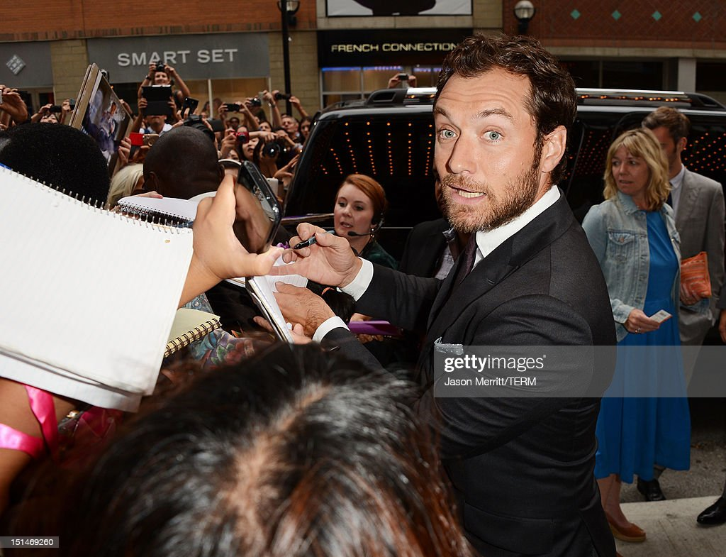 Actor Jude Law attends the 'Anna Karenina' premiere during the 2012 Toronto International Film Festival at The Elgin on September 7, 2012 in Toronto, Canada.