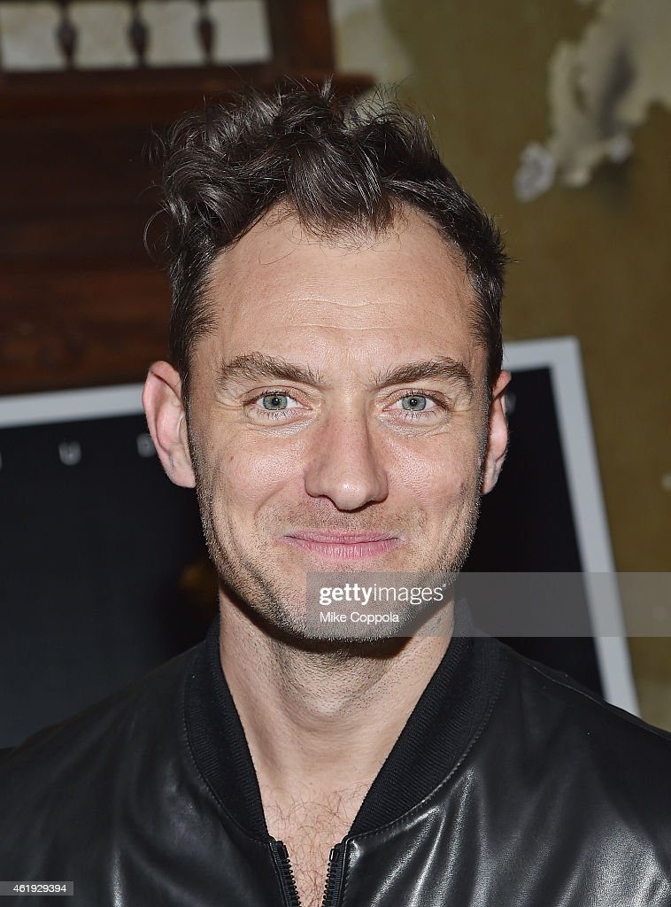 Actor <a gi-track='captionPersonalityLinkClicked' href=/galleries/search?phrase=Jude+Law&family=editorial&specificpeople=156401 ng-click='$event.stopPropagation()'>Jude Law</a> attends the 'Black Sea' New York Screening after Party at Macao on January 21, 2015 in New York City.