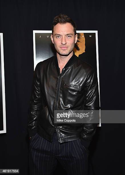 Actor Jude Law attends the 'Black Sea' New York screening at Landmark Sunshine Cinema on January 21 2015 in New York City