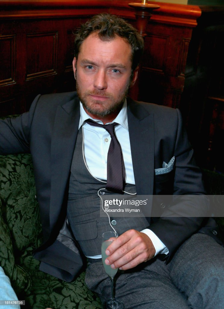 Actor <a gi-track='captionPersonalityLinkClicked' href=/galleries/search?phrase=Jude+Law&family=editorial&specificpeople=156401 ng-click='$event.stopPropagation()'>Jude Law</a> attends the Grey Goose Vodka and Forevermark Diamonds party for 'Anna Karenina' at Soho House Toronto on September 7, 2012 in Toronto, Canada.