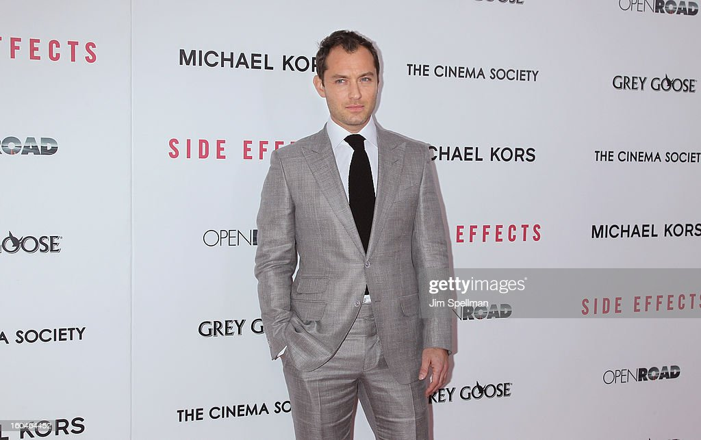 Actor Jude Law attends the Open Road With The Cinema Society And Michael Kors Host The Premiere Of 'Side Effects' at AMC Lincoln Square Theater on January 31, 2013 in New York City.