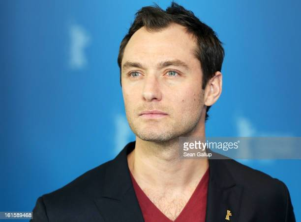 Actor Jude Law attends the 'Side Effects' Photocall during the 63rd Berlinale International Film Festival at the Grand Hyatt Hotel on February 12...