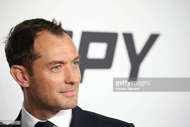 Actor Jude Law attends the 'Spy' New York Premiere at AMC Loews Lincoln Square on June 1 2015 in New York City