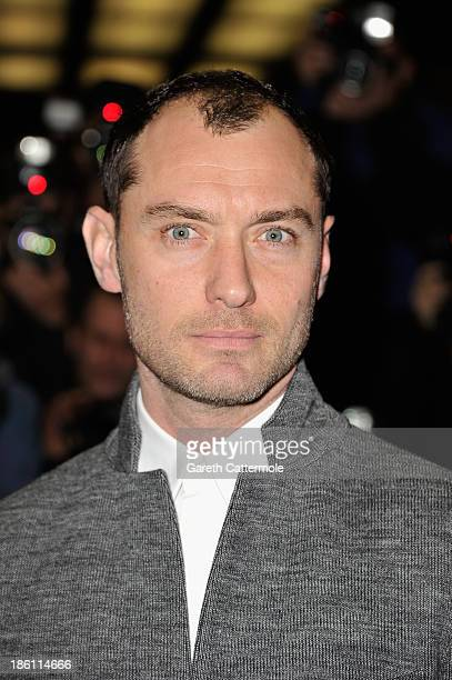 Actor Jude Law attends the UK Premiere of 'Dom Hemingway' at The Curzon Mayfair on October 28 2013 in London England