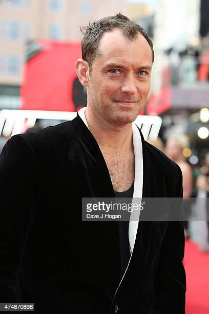 Actor Jude Law attends the UK Premiere of 'Spy' at Odeon Leicester Square on May 27 2015 in London England