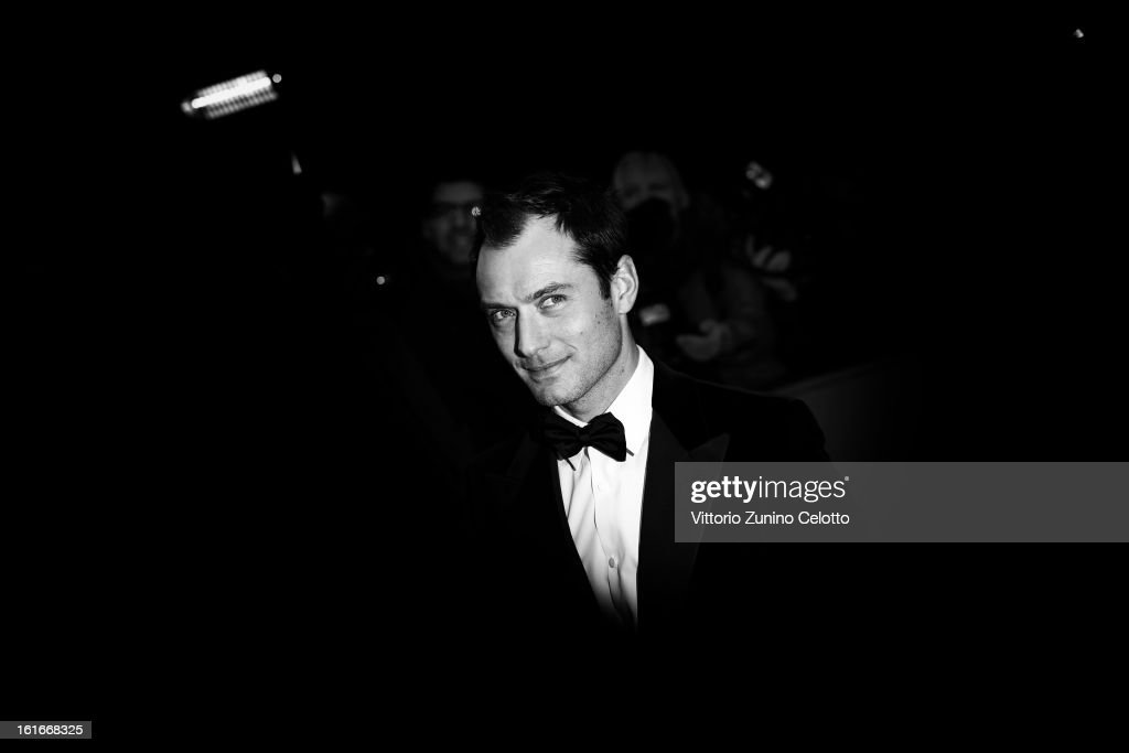 Actor <a gi-track='captionPersonalityLinkClicked' href=/galleries/search?phrase=Jude+Law&family=editorial&specificpeople=156401 ng-click='$event.stopPropagation()'>Jude Law</a> during the 63rd Berlinale International Film Festival at Berlinale Palast on February 12, 2013 in Berlin, Germany.