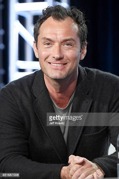 Actor Jude Law of the limited series 'The Young Pope' speaks onstage during the HBO portion of the 2017 Winter Television Critics Association Press...
