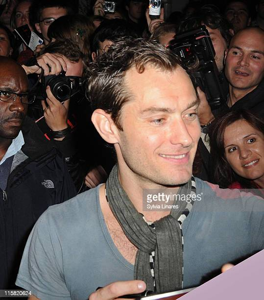 Actor Jude Law signs autographs on July 30 2009 in London England