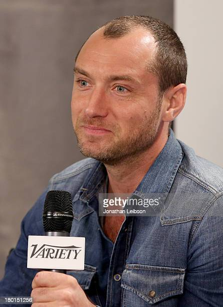 Actor Jude Law speaks at Variety Studio presented by Moroccanoil at Holt Renfrew during the 2013 Toronto International Film Festival on September 9...