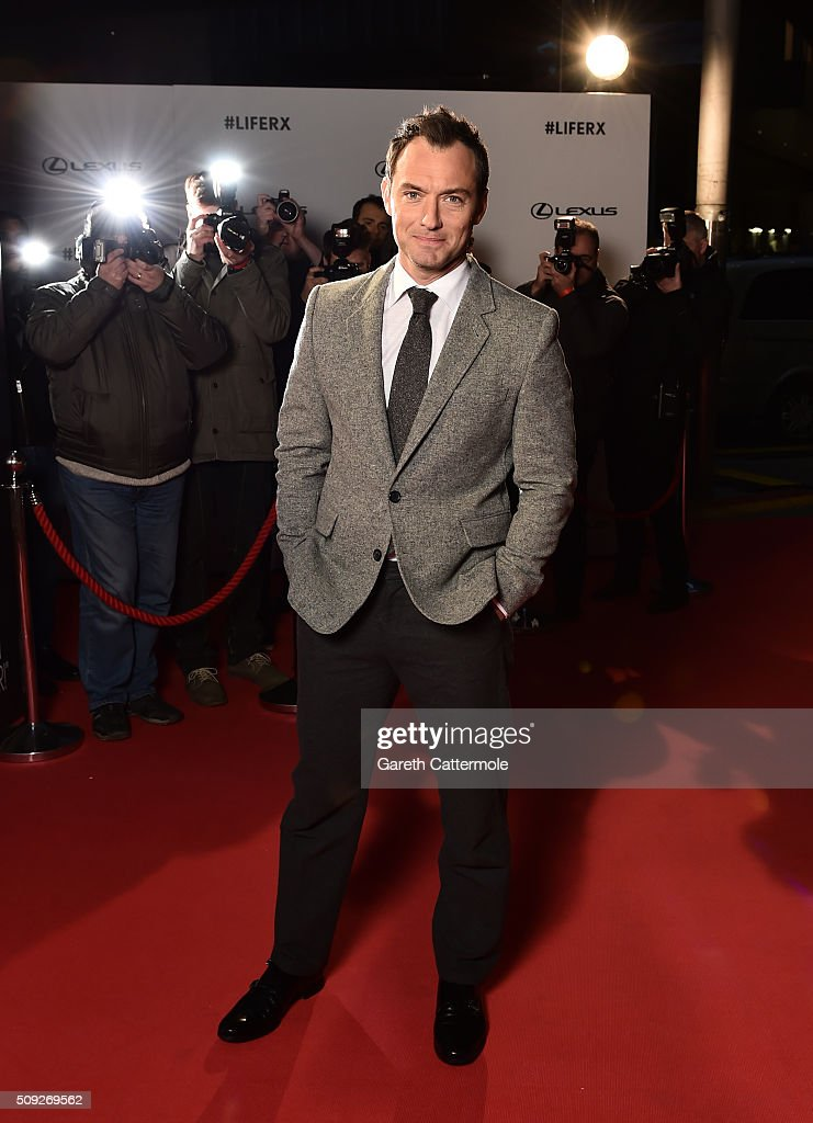 """Actor <a gi-track='captionPersonalityLinkClicked' href=/galleries/search?phrase=Jude+Law&family=editorial&specificpeople=156401 ng-click='$event.stopPropagation()'>Jude Law</a> stars in """"The Life RX"""", a new immersive theatre experience and performance celebrating the launch of the boldly designed new Lexus RX on February 9, 2016 in London, England."""
