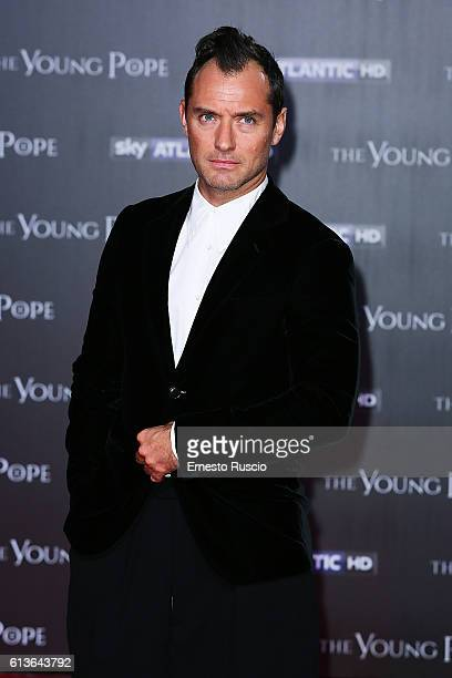Actor Jude Law walks the red carpet at 'The Young Pope' premiere at The Space Cinema on October 9 2016 in Rome Italy
