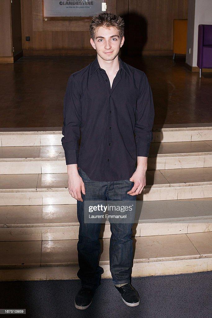 Actor Jules Sadoughi attends 'Alias Caracalla' Paris Premiere at Cinema l'Arlequin on April 25, 2013 in Paris, France.