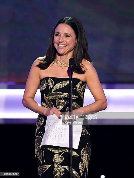 Actor Julia LouisDreyfus accepts Outstanding Performance by a Female Actor in a Comedy Series for 'Veep' onstage during The 23rd Annual Screen Actors...