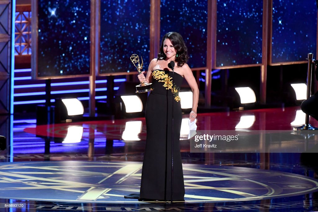 Actor Julia Louis-Dreyfus accepts the Outstanding Lead Actress in a Comedy Series award for 'Veep' onstage during the 69th Annual Primetime Emmy Awards at Microsoft Theater on September 17, 2017 in Los Angeles, California.