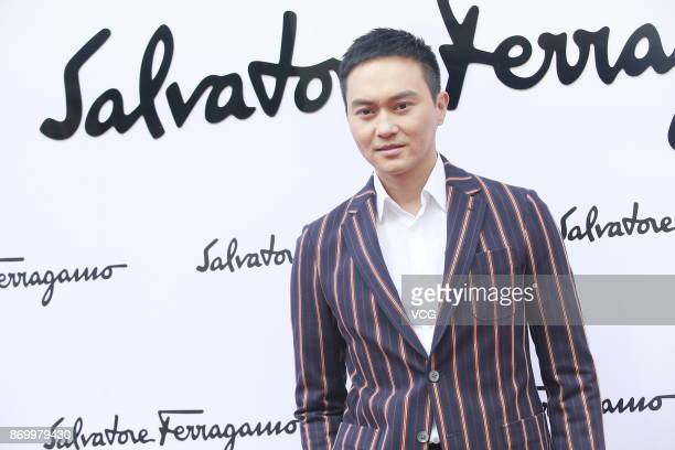 Actor Julian Cheung attends the reopening ceremony of Salvatore Ferragamo's flagship store on November 3 2017 in Hong Kong China