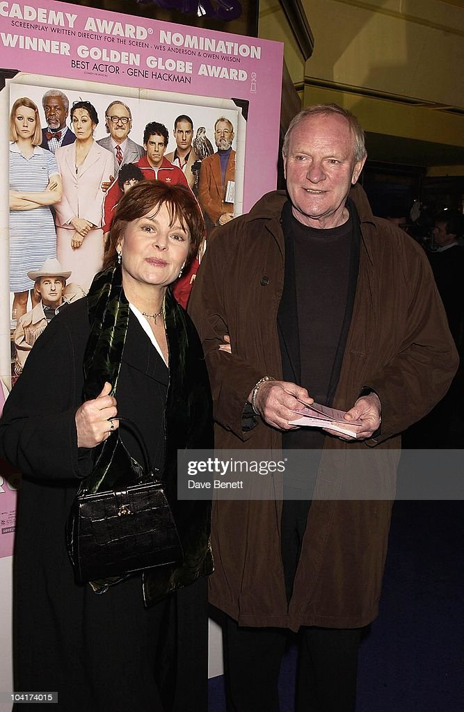 Actor Julian Glover And His Wife, The Premiere Of New American Movie 'The Royal Tenenbaums' At The Ucg Haymarket ,and The Party At 23 Craven St, London
