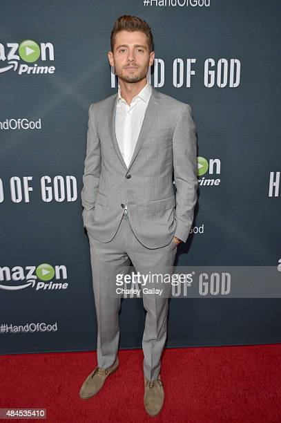 Actor Julian Morris attends the Amazon premiere screening for original drama series 'Hand Of God' at The Theatre at Ace Hotel on August 19 2015 in...