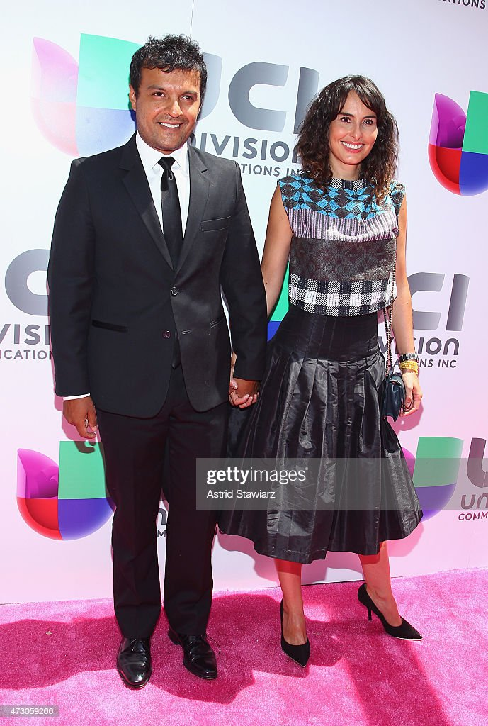 Actor Julian Roman and actress Ana Serradilla attend Univision's 2015 Upfront at Gotham Hall on May 12 2015 in New York City