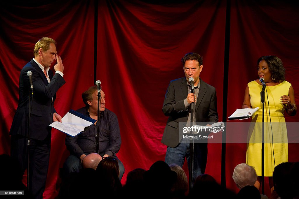 Actor Julian Sands producer Alan Zweibel actor Eugene Pack and actress Sherri Shepherd perform at Celebrity Autobiography Salutes The 2011 Tony...