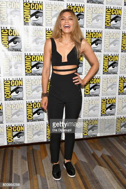 Actor Juliana Harkavy at the 'Arrow' Press Line during ComicCon International 2017 at Hilton Bayfront on July 22 2017 in San Diego California